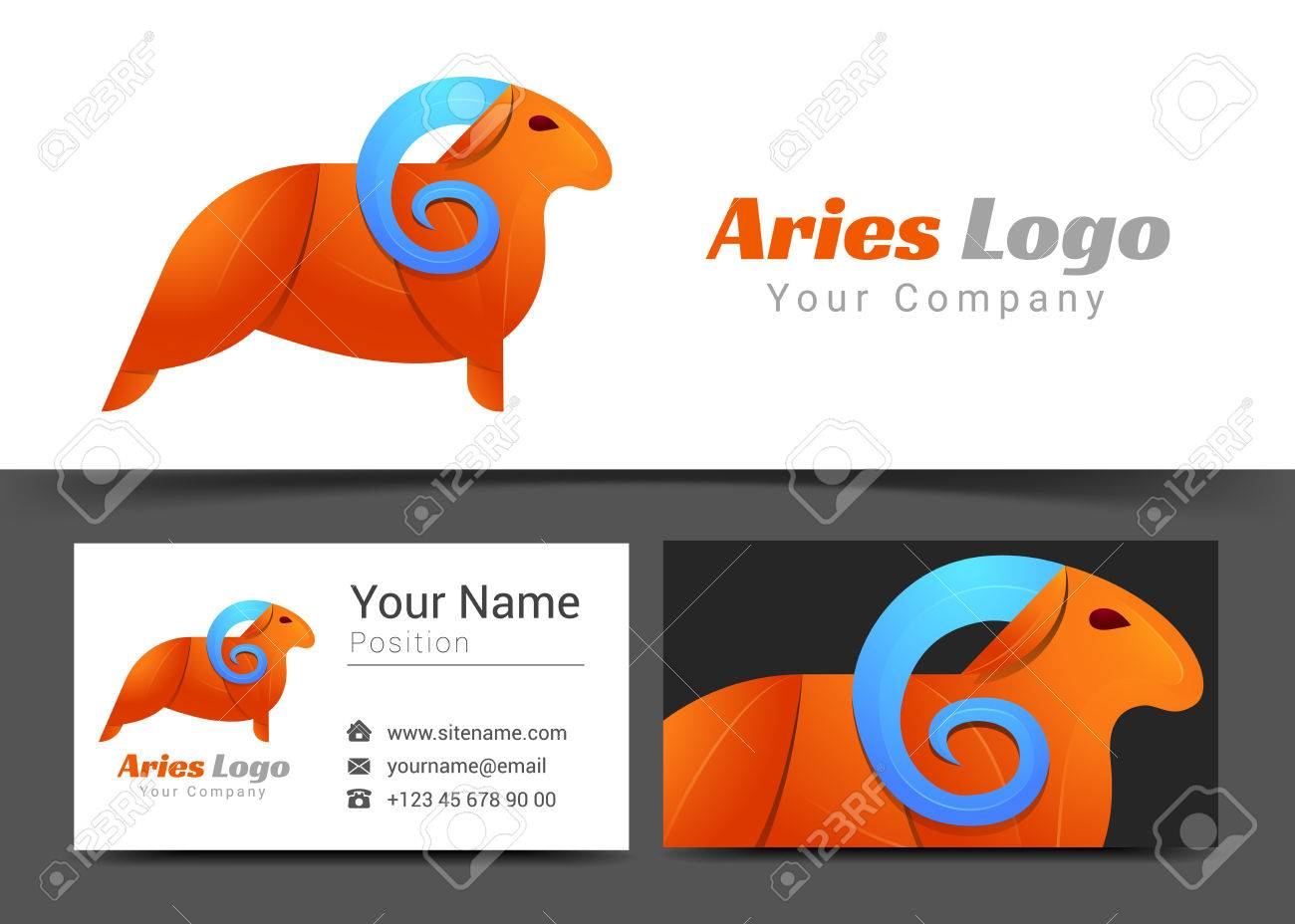 Emblem aries corporate logo and business card sign template emblem aries corporate logo and business card sign template creative design with colorful logotype visual magicingreecefo Images