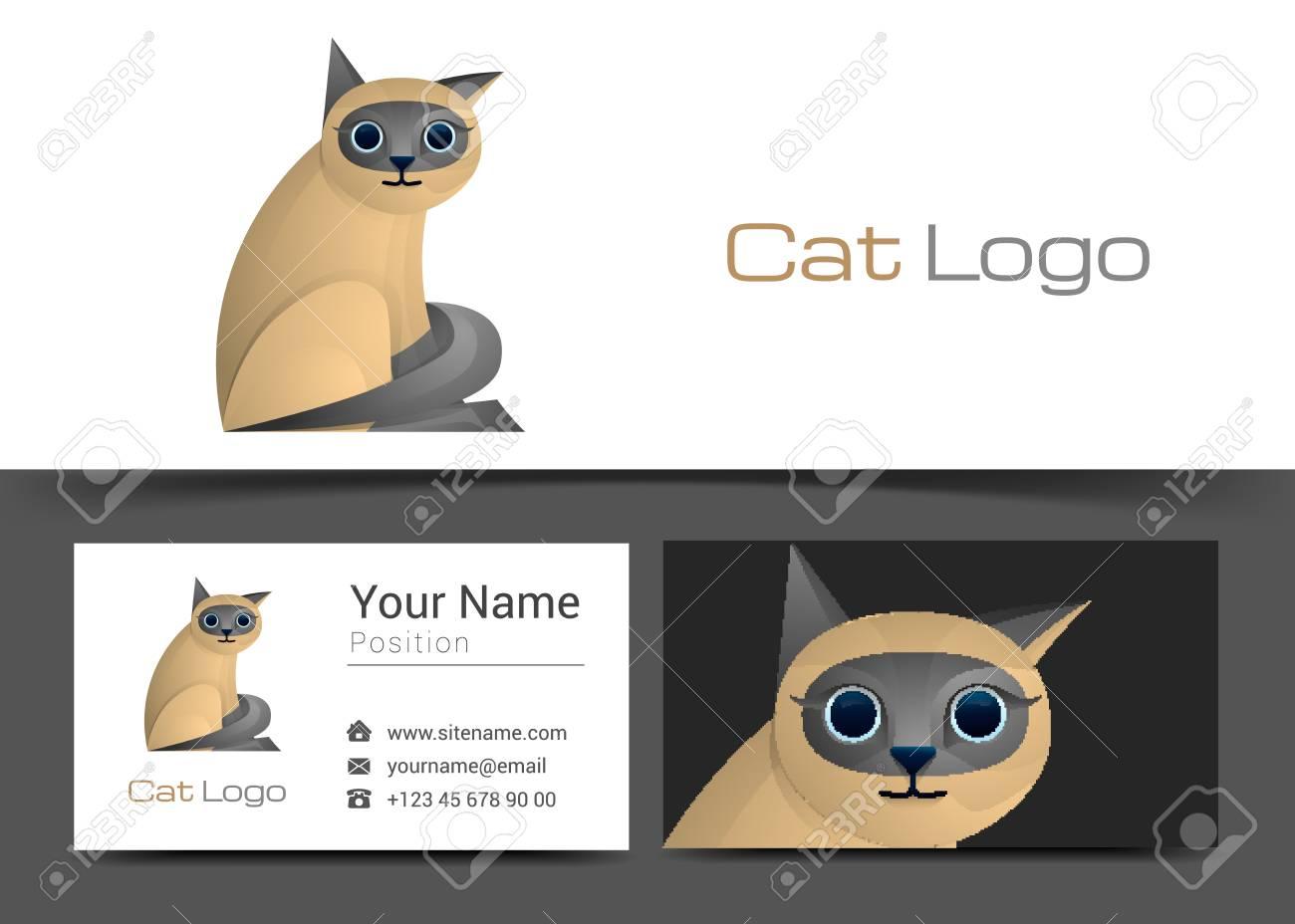 Modele De Logo Et Carte Visite Professionnelle Chat
