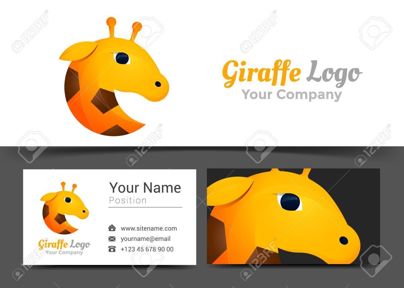 Giraffe Corporate Logo And Business Card Sign Template. Creative ...