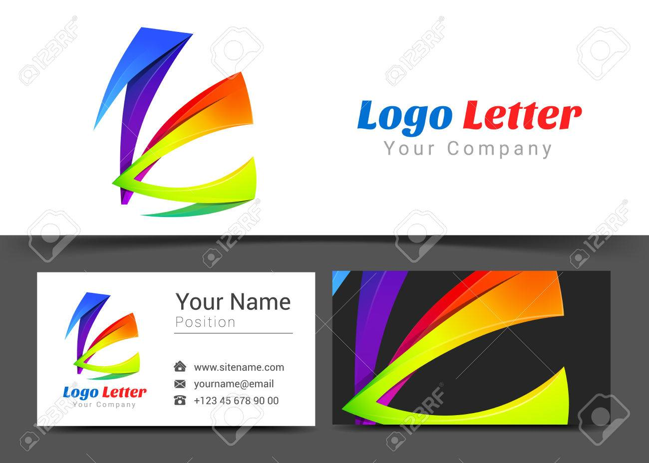 Letter k corporate logo and business card sign template creative letter k corporate logo and business card sign template creative design with colorful logotype visual magicingreecefo Images