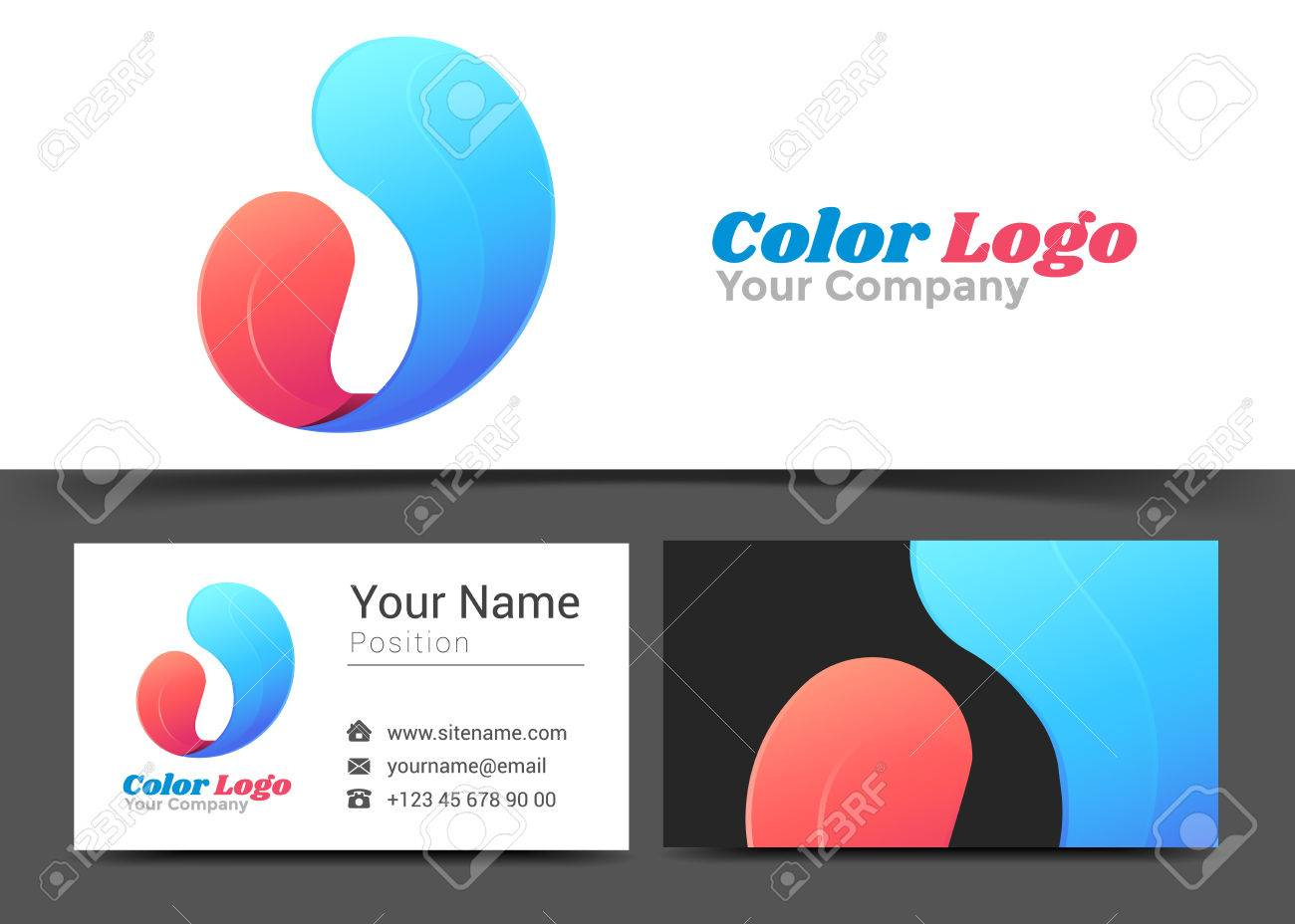 Letter u corporate logo and business card sign template creative letter u corporate logo and business card sign template creative design with colorful logotype visual magicingreecefo Images