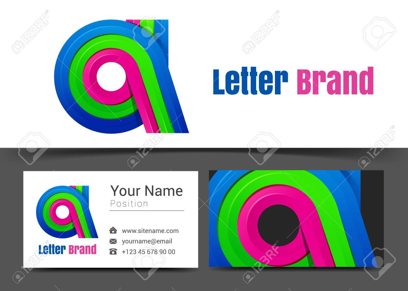 A letter corporate logo and business card sign template creative a letter corporate logo and business card sign template creative design with colorful logotype visual magicingreecefo Images