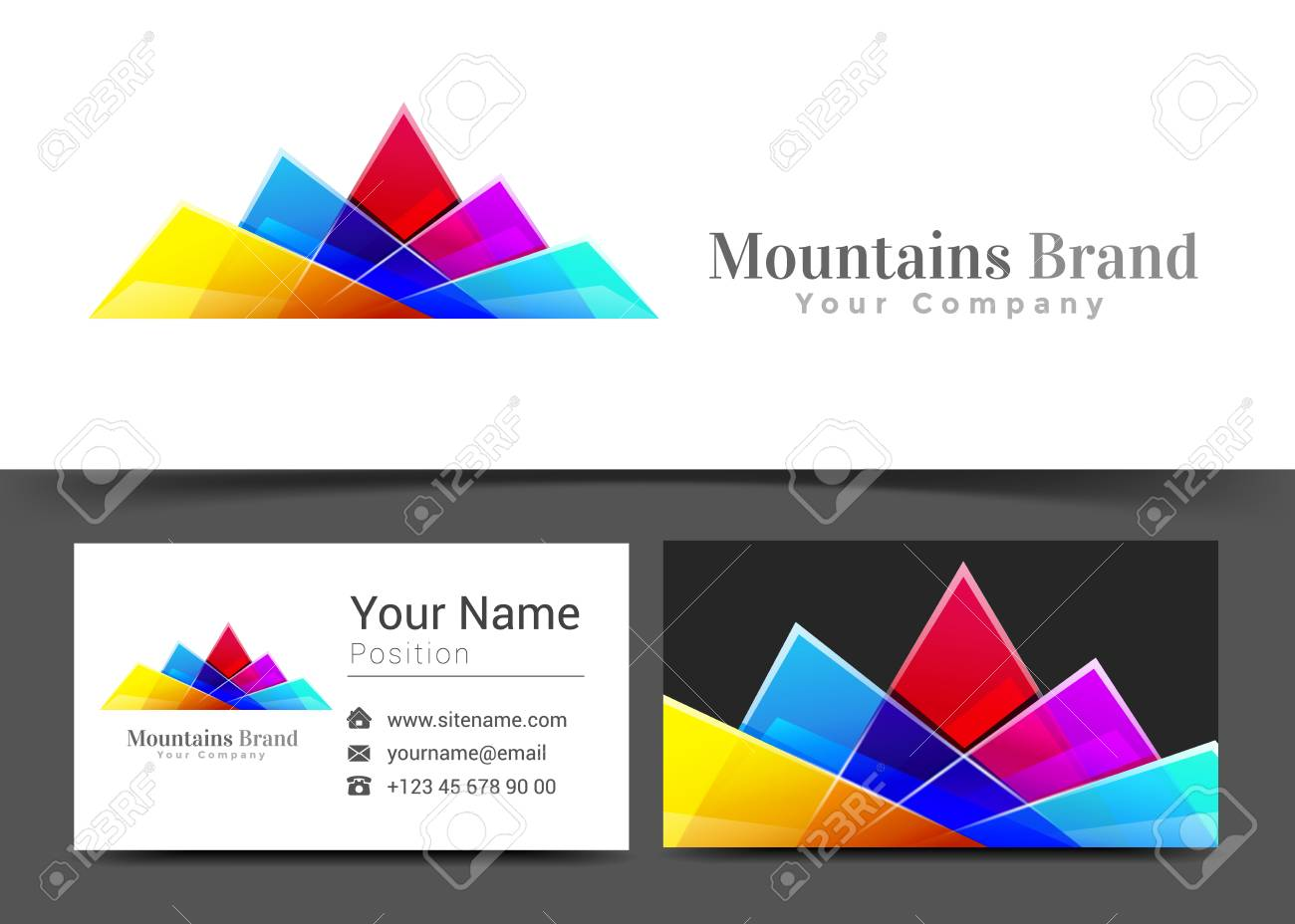Business card sign choice image free business cards mountains corporate logo and business card sign template creative mountains corporate logo and business card sign magicingreecefo Images