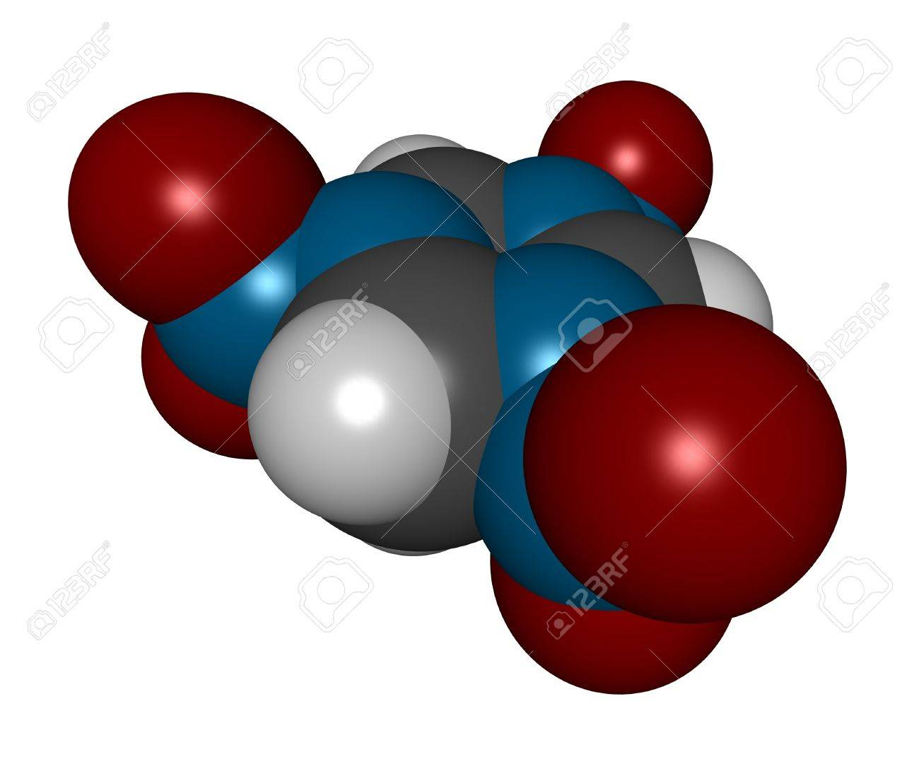 3D molecular structure of the explosive compound RDX Stock Photo - 12421822