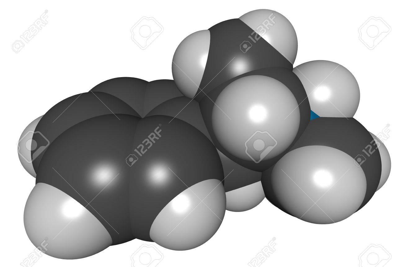 methamphetamine (meth), 3D structure isolated on white.. Stock Photo - 13614224