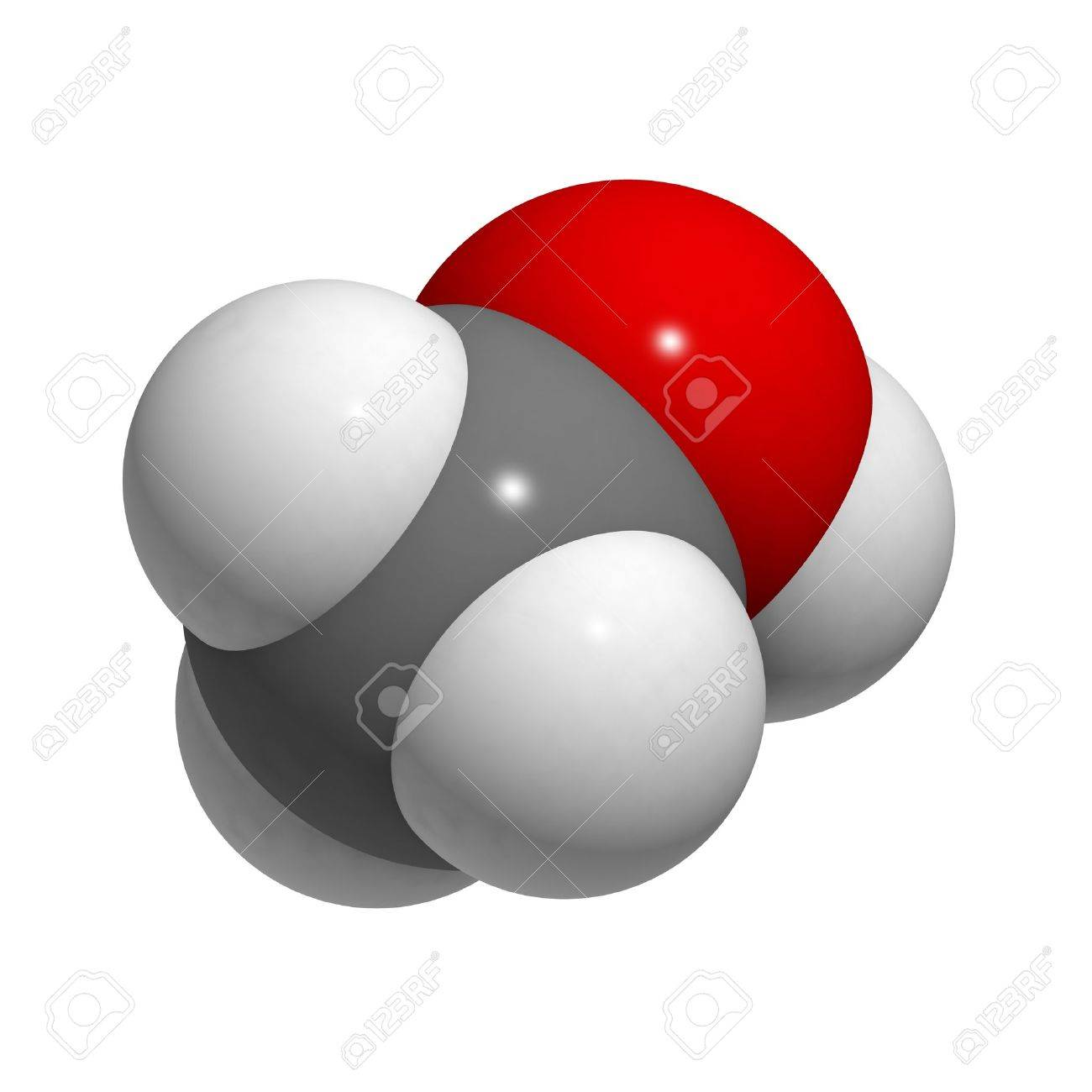 Chemical structure of a molecule of methanol. Stock Photo - 14478491