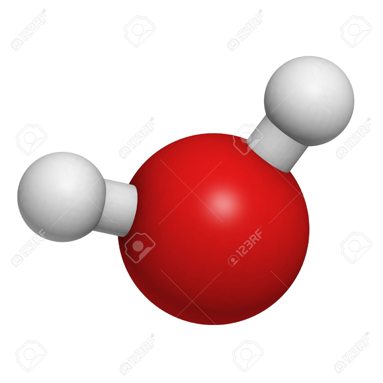 Chemical structure of a water molecule Stock Photo - 14478485