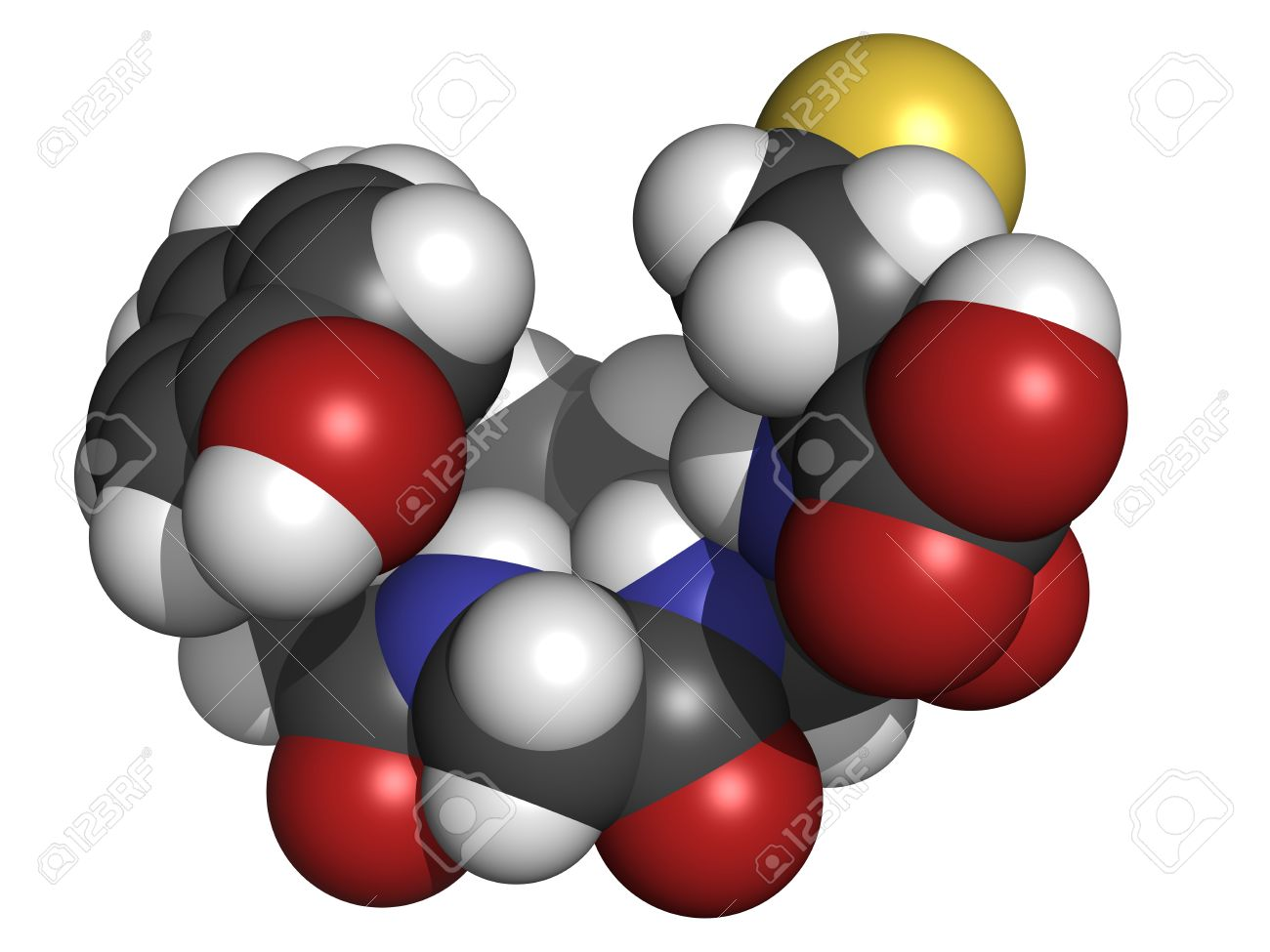 Chemical structure of a molecule of Met-enkephalin. Stock Photo - 16083372