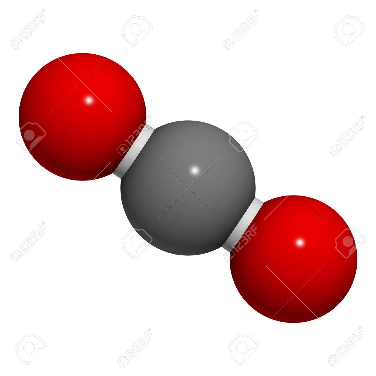 二酸化炭素 co2 の分子の化学構造 ロイヤリティーフリーフォト