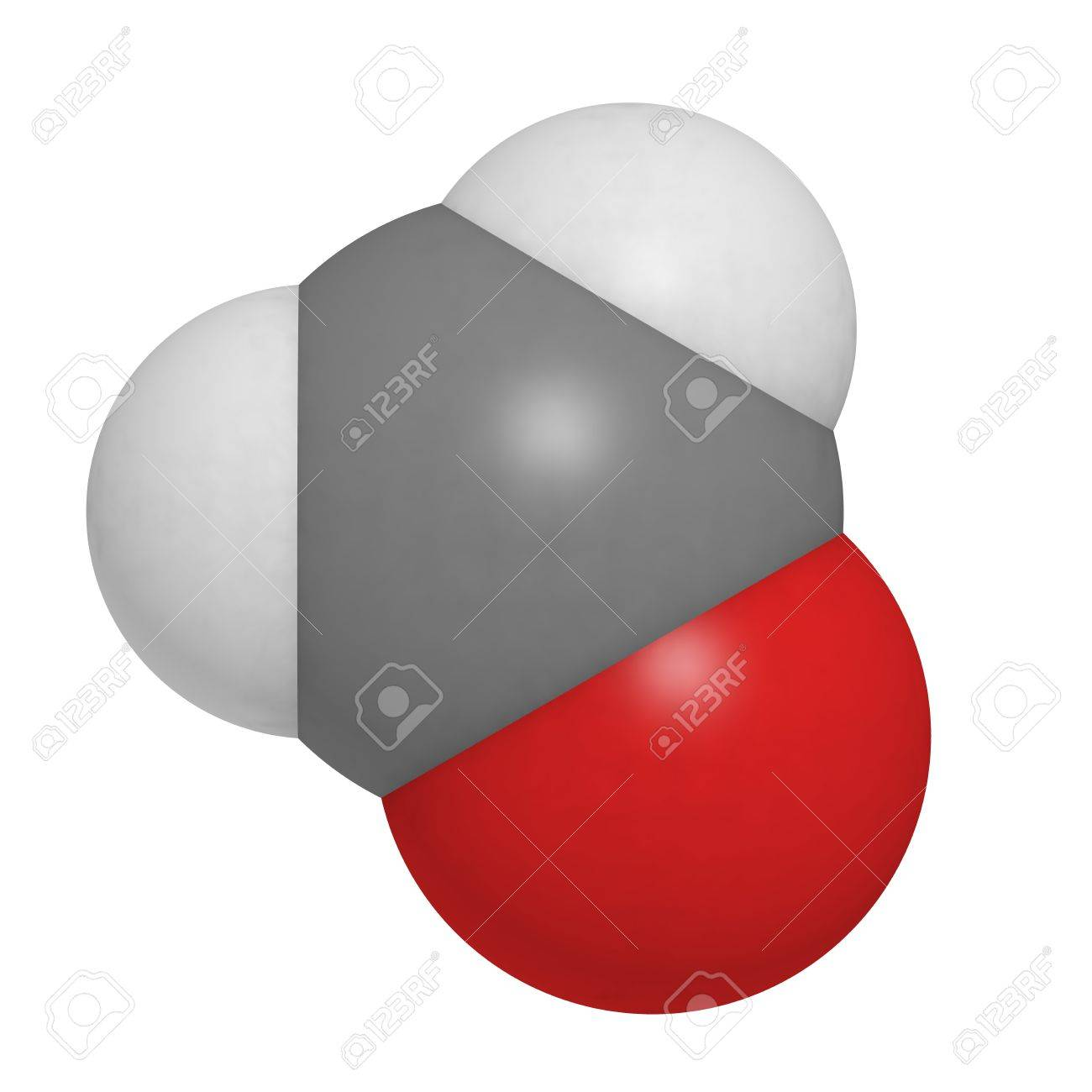 Chemical structure of a molecule of formaldehyde (CH2O). Stock Photo - 16398772