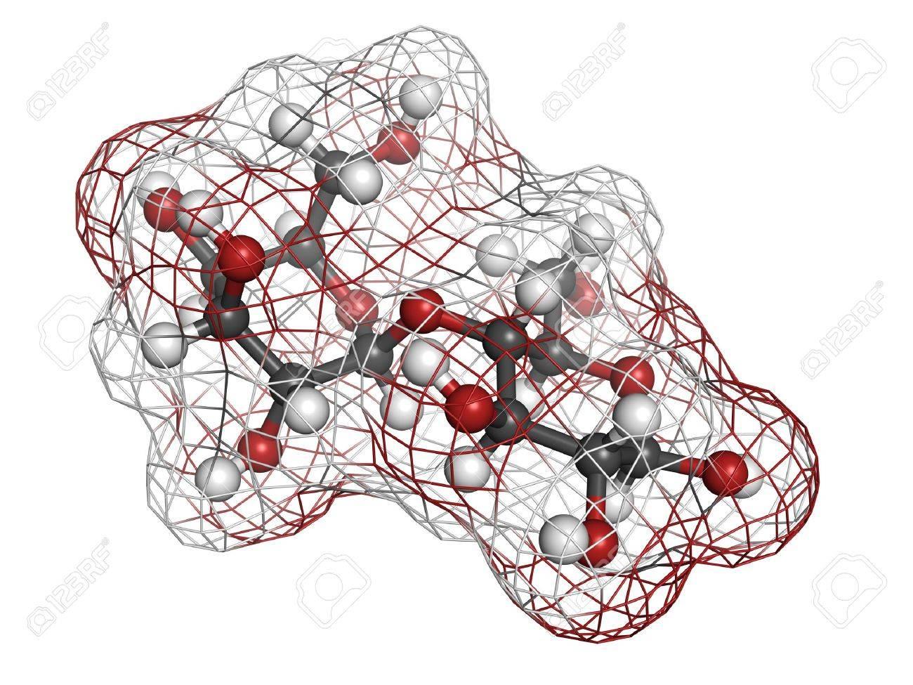 La Lactosa Leche Azúcar Molécula Estructura Química La Lactosa Es El Azúcar Disacárido De La Leche Los átomos Se Representan Como Esferas Con