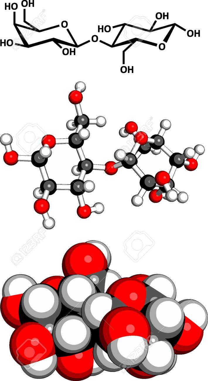 La Lactosa Leche Azúcar Molécula Estructura Química La Lactosa Es El Azúcar Disacárido De La Leche Tres Representaciones 2d Fórmula Del Esqueleto