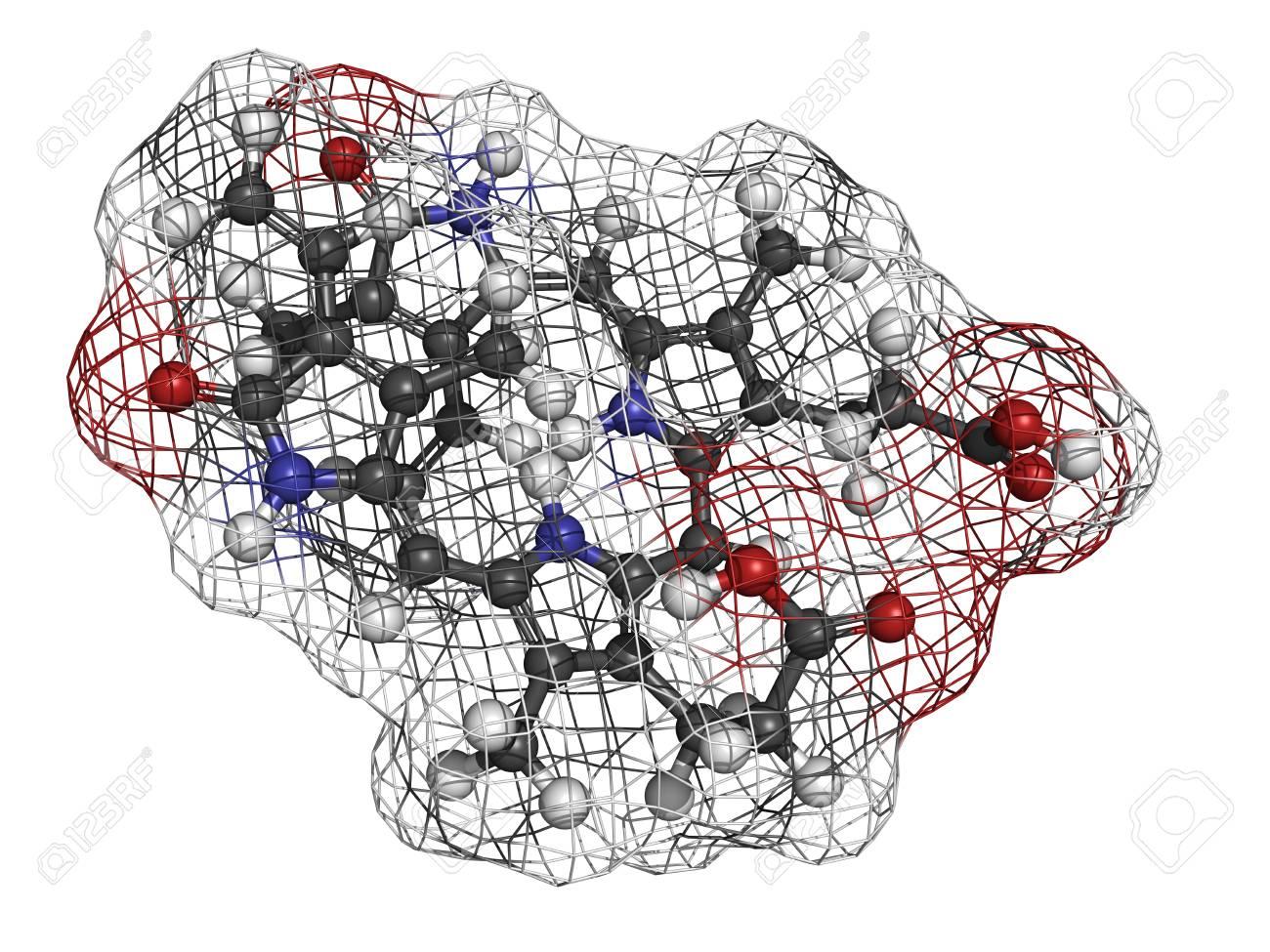 La Bilirrubina Heme Producto De Degradación El Modelo Molecular Los átomos Se Representan Como Esferas Con Codificación De Colores Convencionales