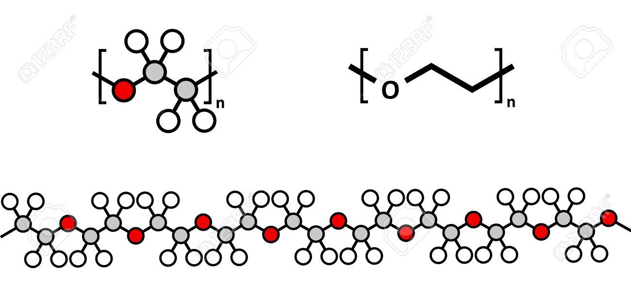polyethylene glycol peg molecule chemical structure forms