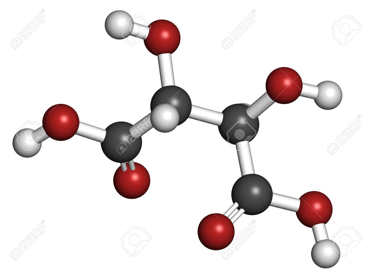 fd1375ddaba L acide Tartrique (acide Dextrotartaric) De Molécule. L acide Présent Dans  Le Vin