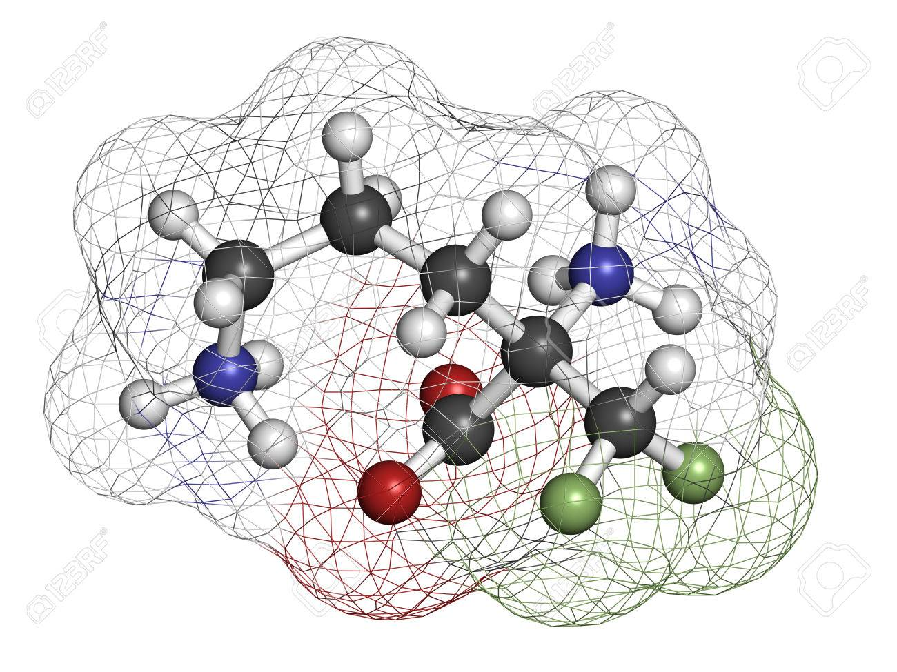 Molécule De Médicament Eflornithine. Utilisé Pour Traiter L ...
