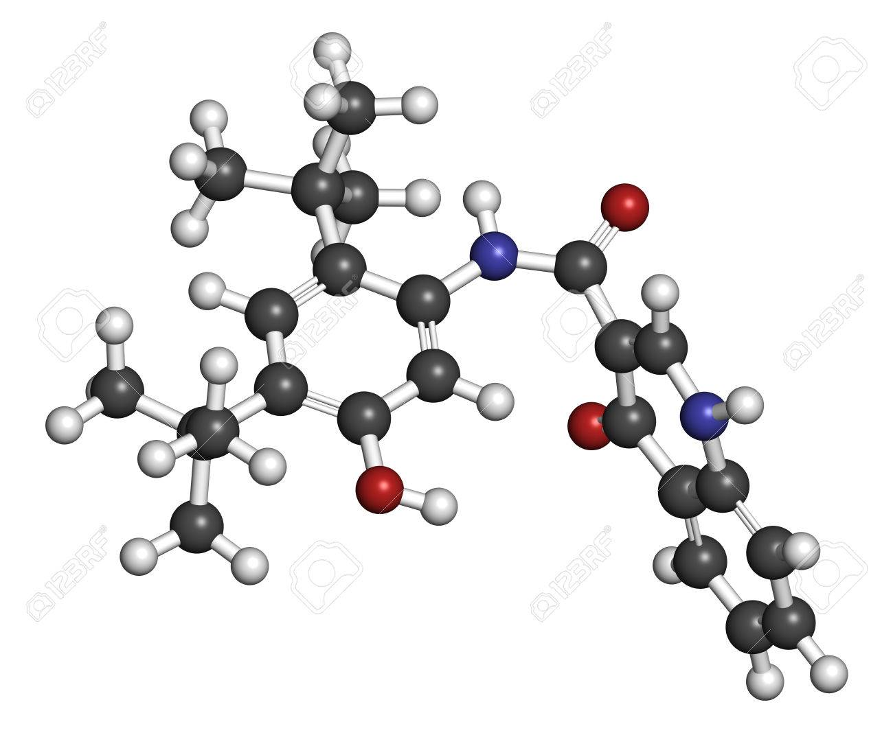 ivacaftor cystic fibrosis drug molecule atoms are represented as spheres with conventional color coding - Cystic Fibrosis Color