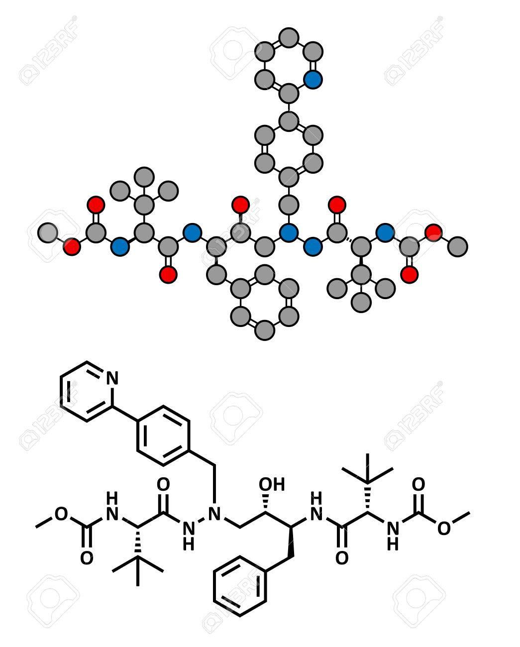 アタザナビル抗 HIV 薬 (プロテ...
