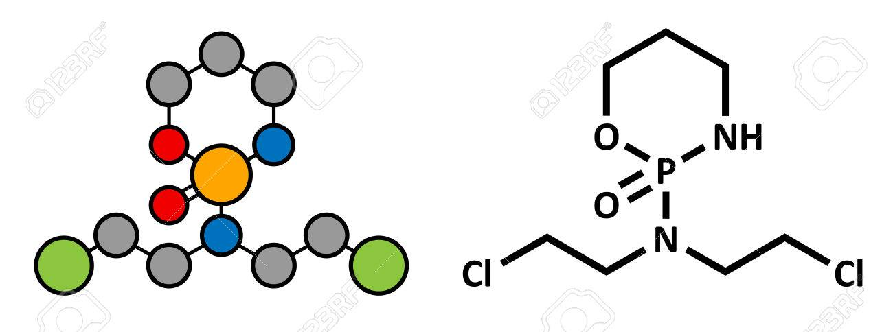 cyclophosphamide cancer chemotherapy drug chemical structure belongs to nitrogen mustard alkylating agents class of