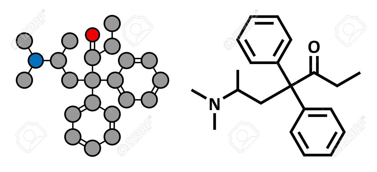 Methadon Opioidabhängigkeit Drogen, Chemische Struktur. Auch Als ...