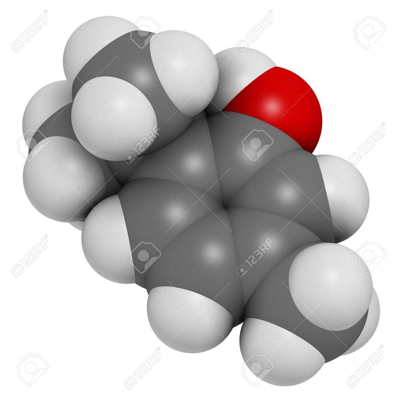 Kche Schwarz Grau Eigenschaften   Thymol Thymianol Molekul Vorhanden In Der Kuche Kraut Thymus