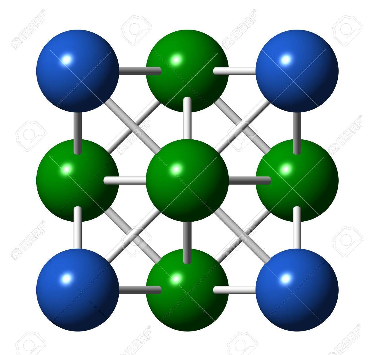De Metal De Plata Estructura Cristalina Metal Precioso Utilizado En La Electrónica La Medicina Joyas Etc Celular Unidad átomos De Esquina Y El