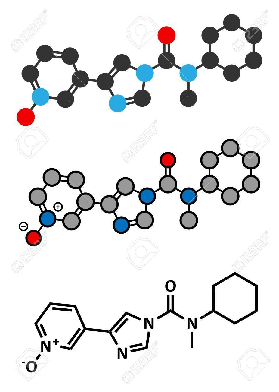BIA 10 2474年実験薬剤の分子。...