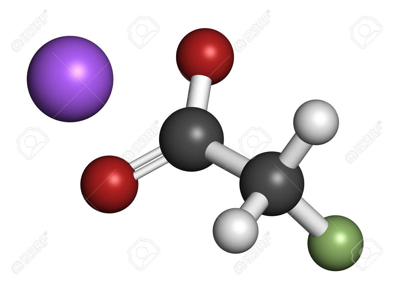 Sodium Fluoroacetate Pesticide (1080), Chemical Structure. 3D ...
