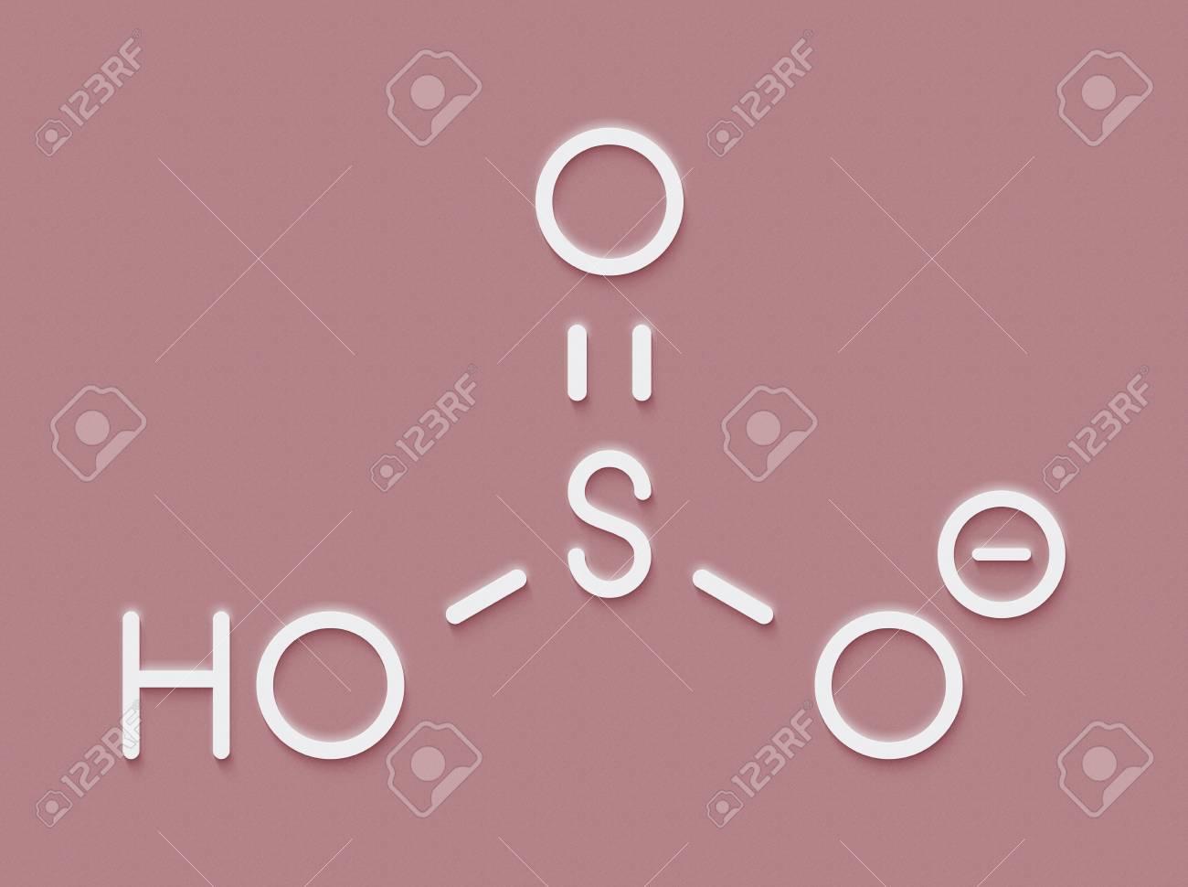 重亜硫酸塩の陰イオン、化学構造...