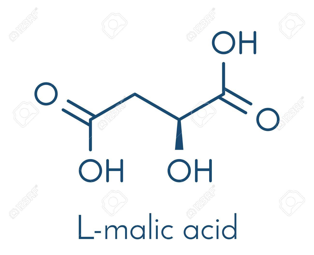 Malic Acid Fruit Acid Molecule Present In Apples Grapes Rhubarb