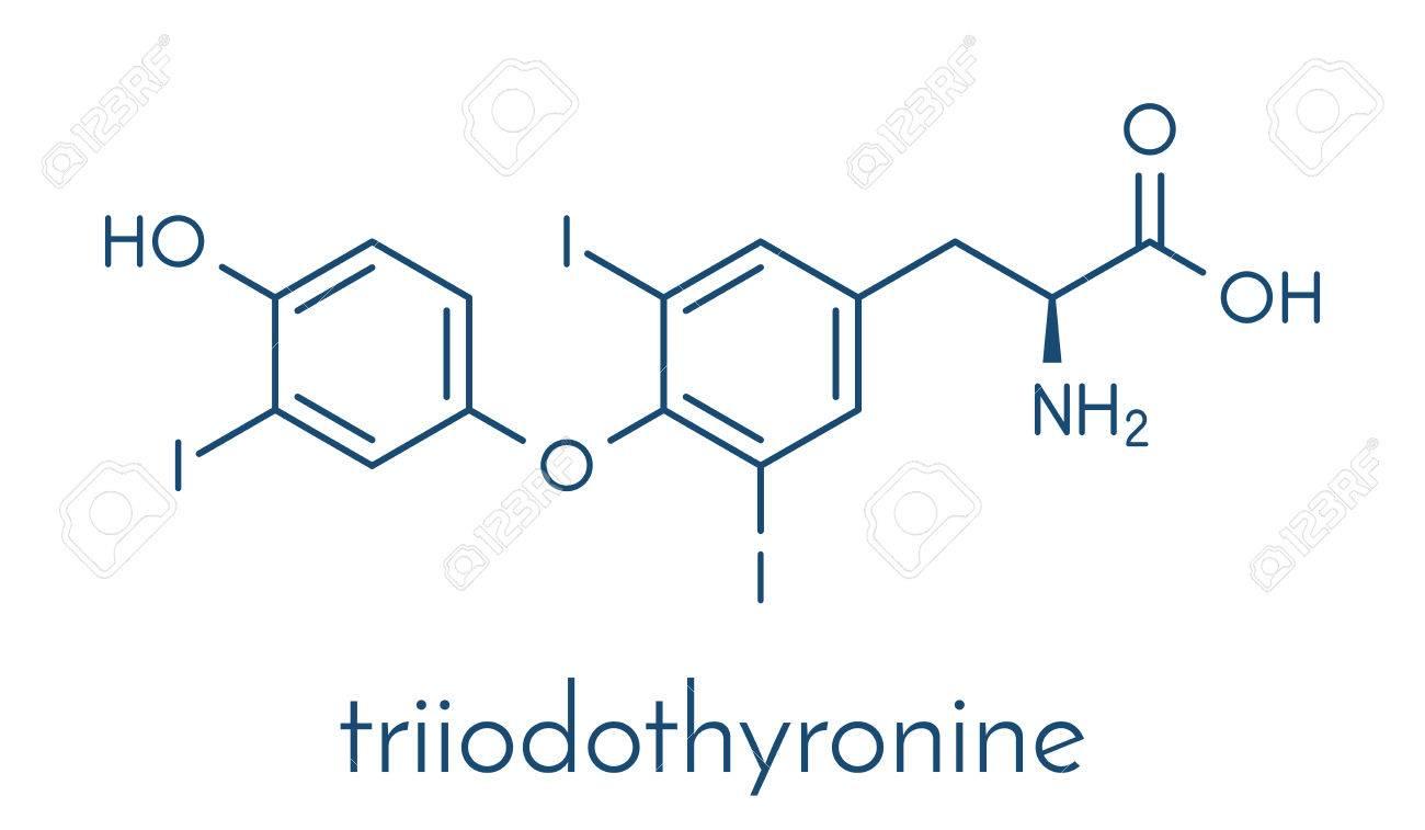 Triiodothyronine T3 Liothyronine Thyroid Hormone Molecule