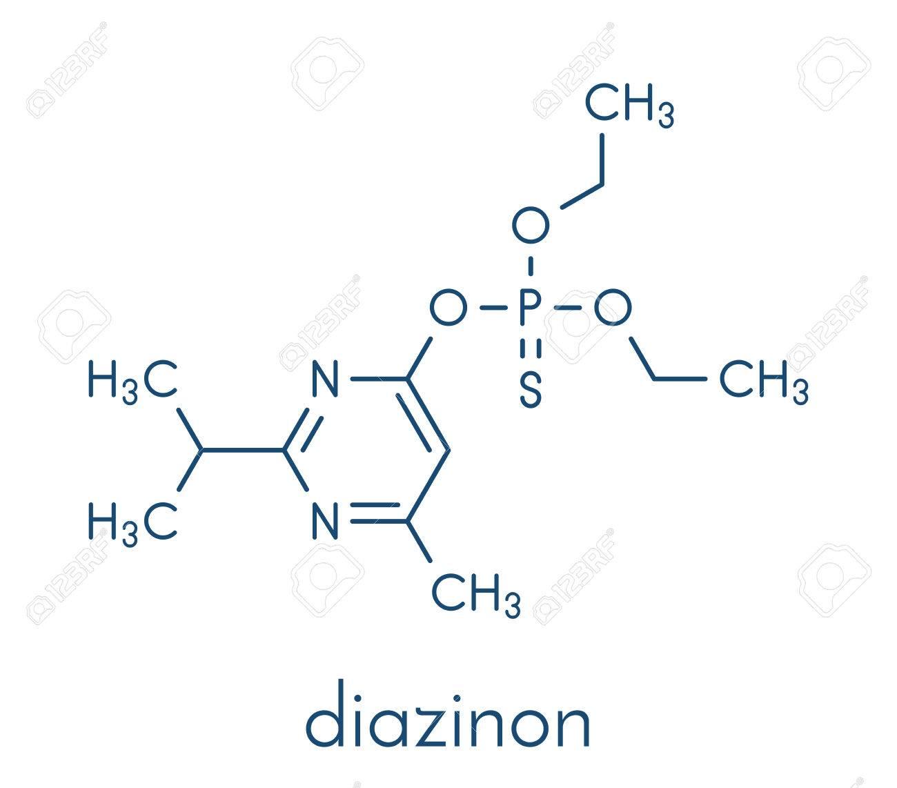 ダイアジノンの有機リン系殺虫剤の分子。のイラスト素材・ベクタ ...