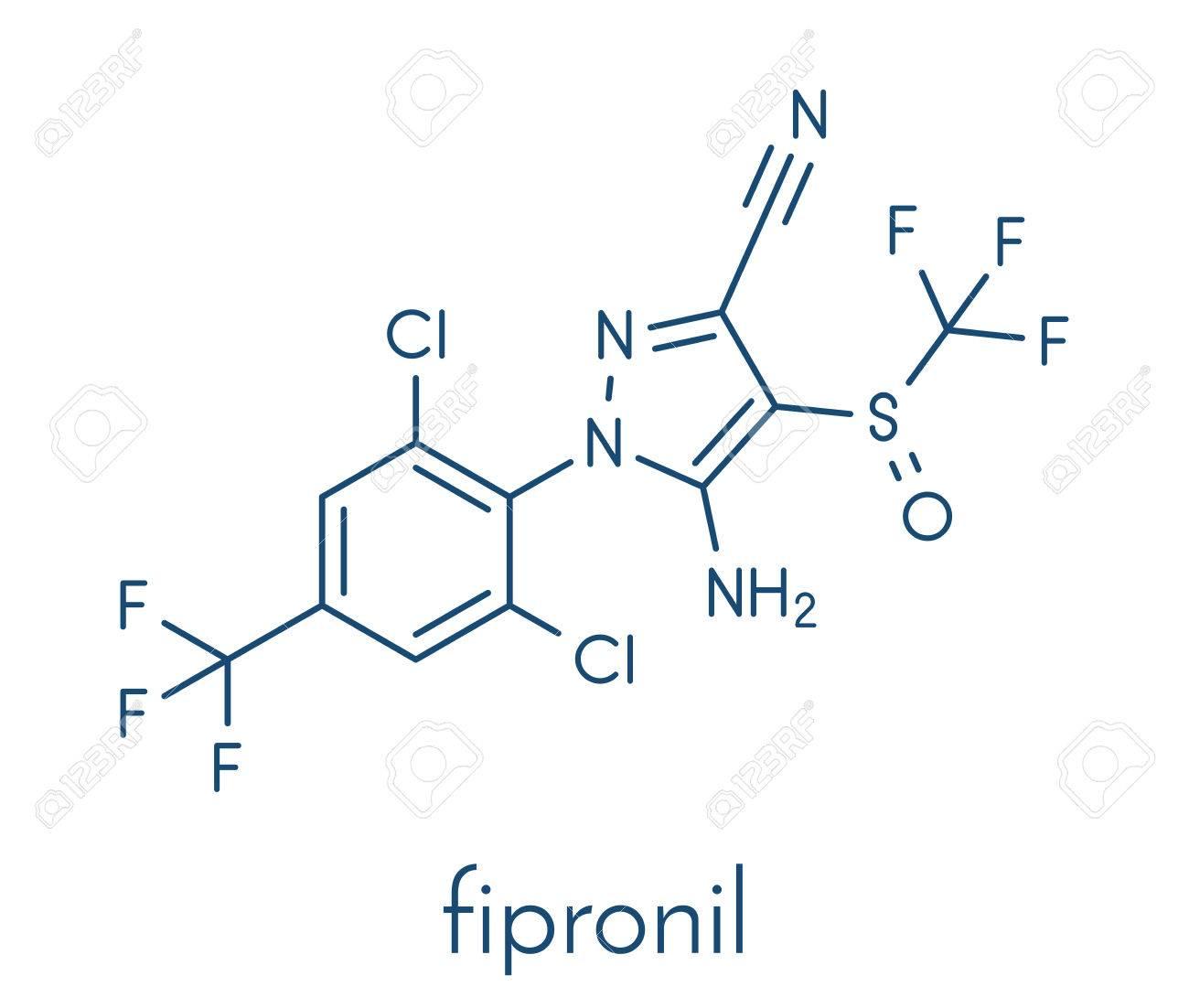 フィプロニル殺虫剤分子。 ロイ...