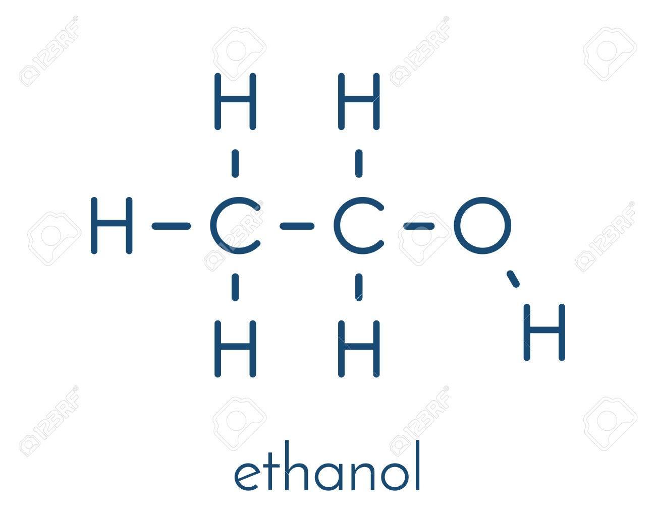 Gut gemocht Alkohol (Ethanol, Ethylalkohol) Molekül, Chemische Struktur QA07