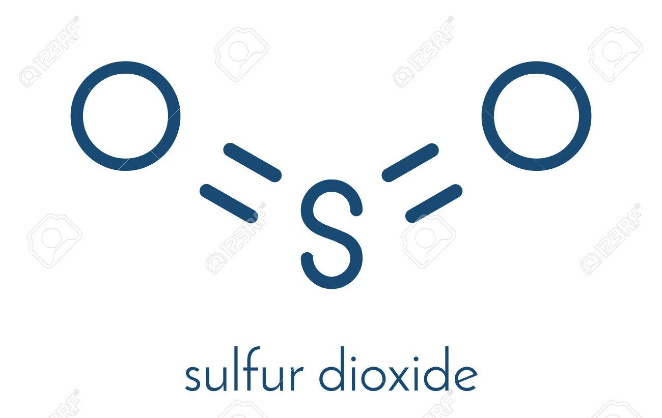 Sulfur Dioxide Food Preservative Molecule E220 Also Used In