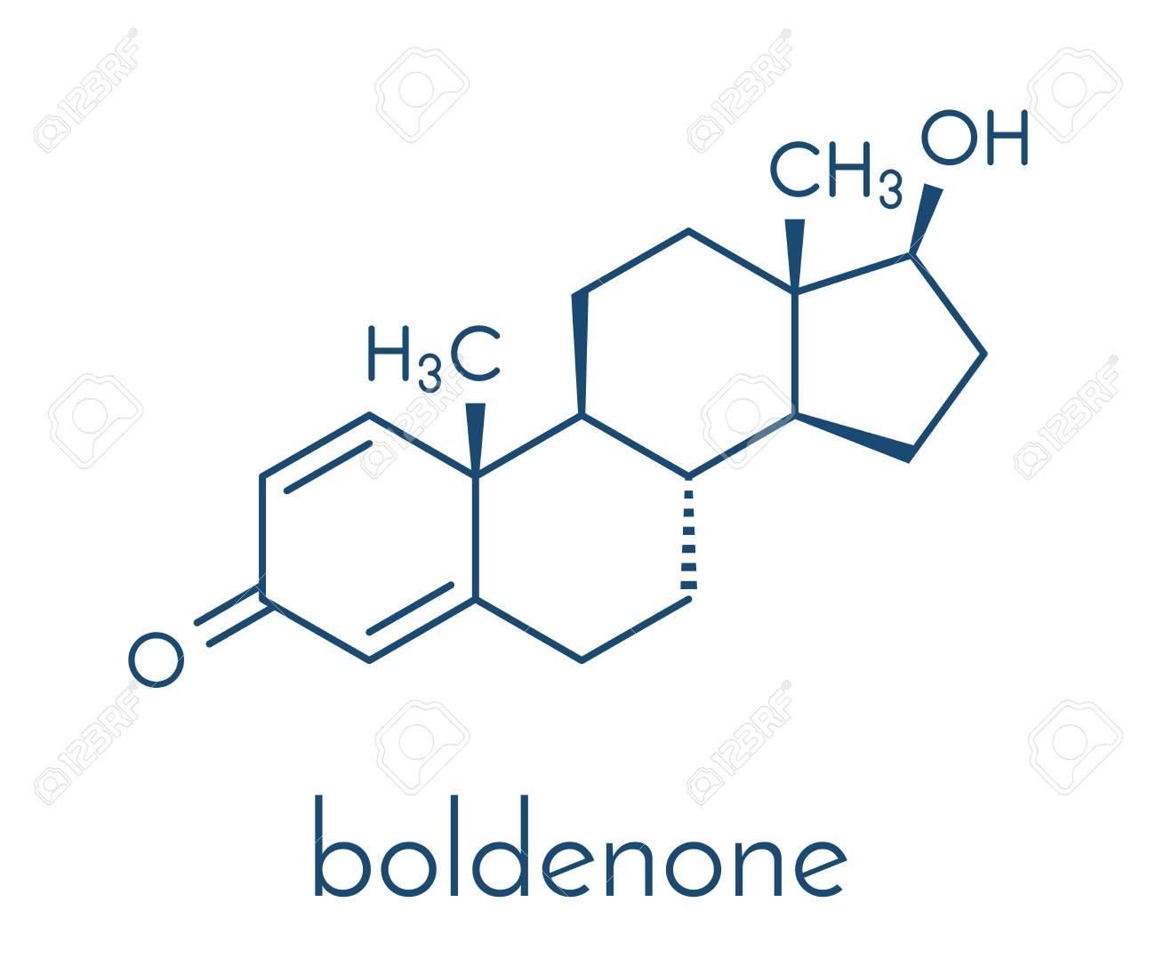 Esteroide Anabólico De Boldenona Estructura Química Fórmula Esquelética
