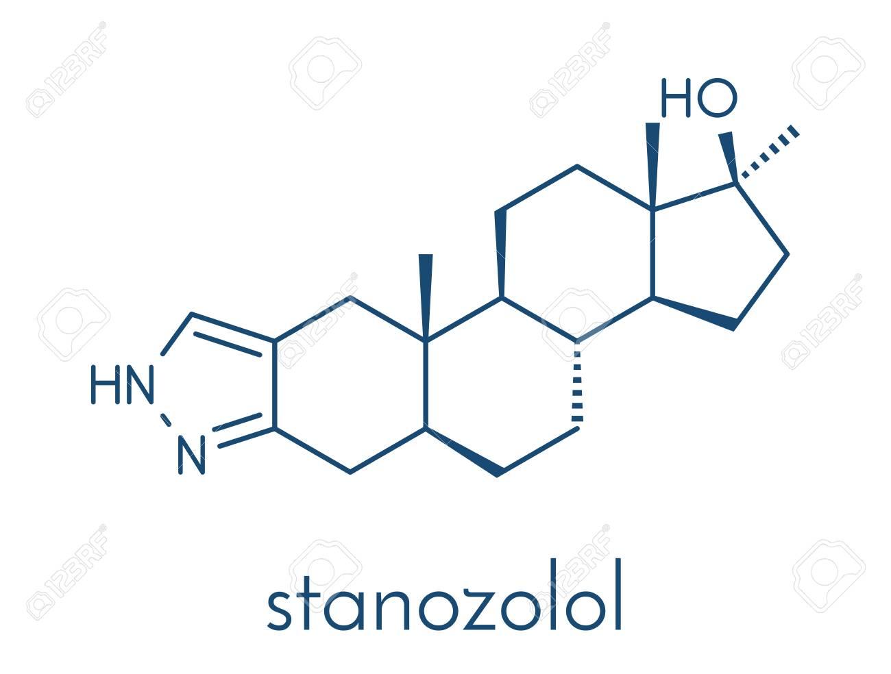 Stanozolol Esteroide Anabólico Estructura Química Fórmula Esquelética