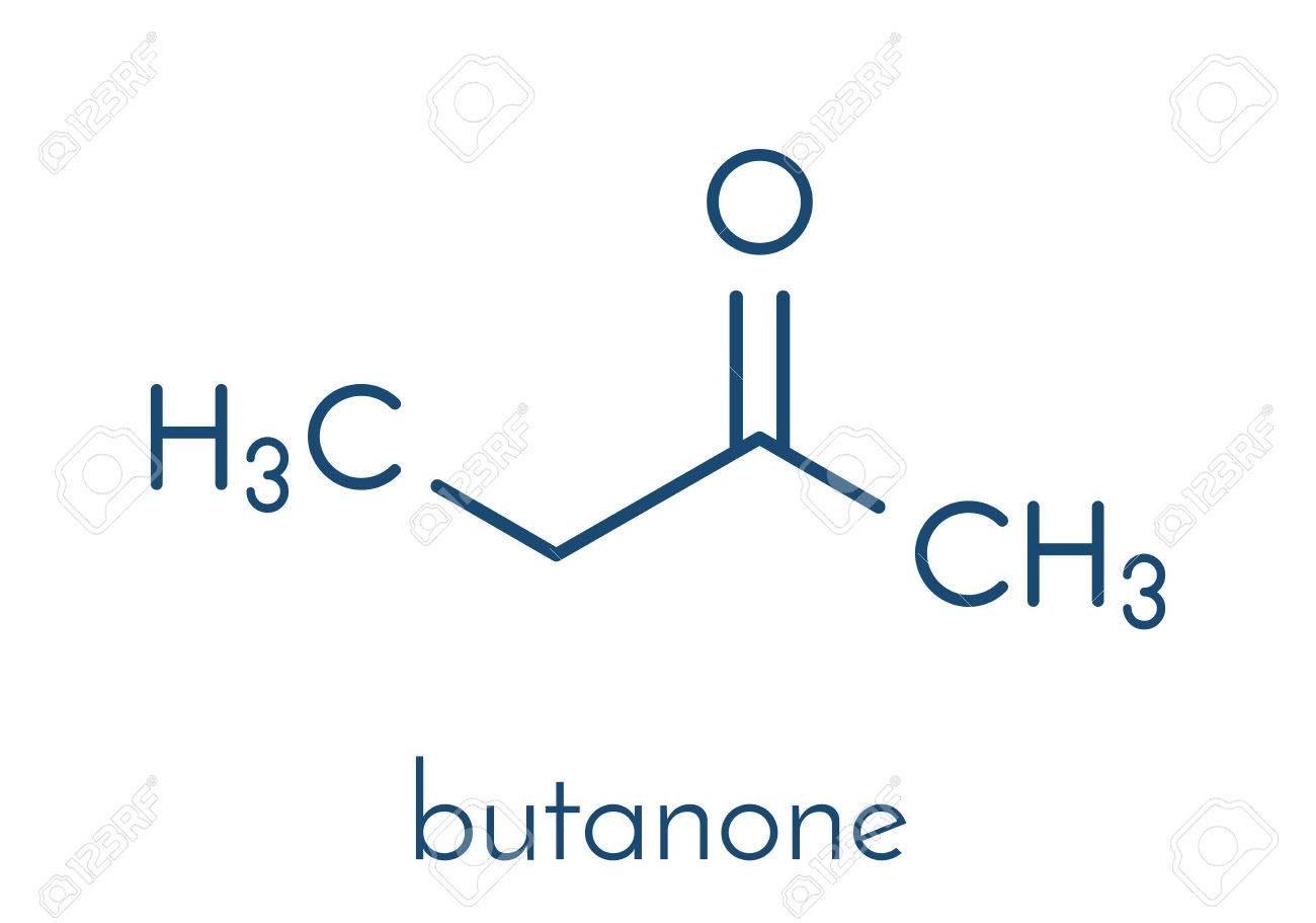 Butanone (methyl ethyl ketone, MEK) industrial solvent, chemical
