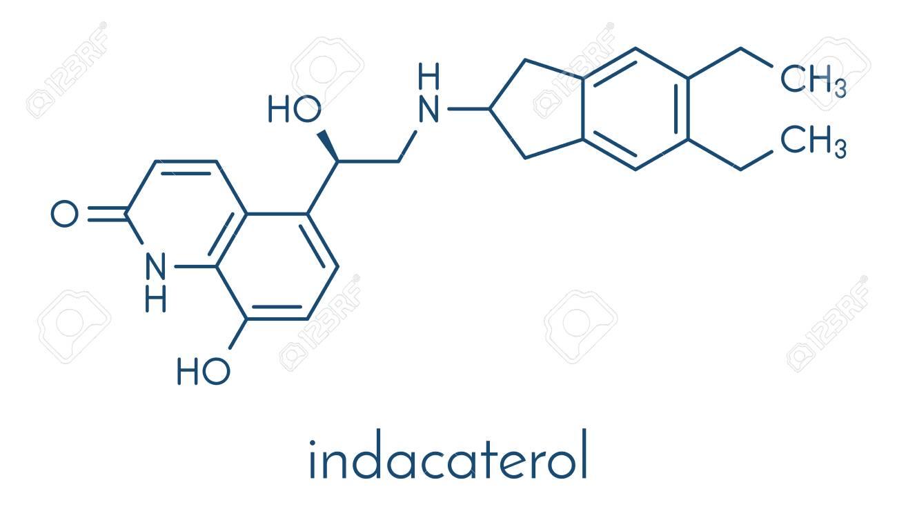 Indacaterol COPD Wirkstoffmolekül. Skelettformel. Lizenzfrei ...