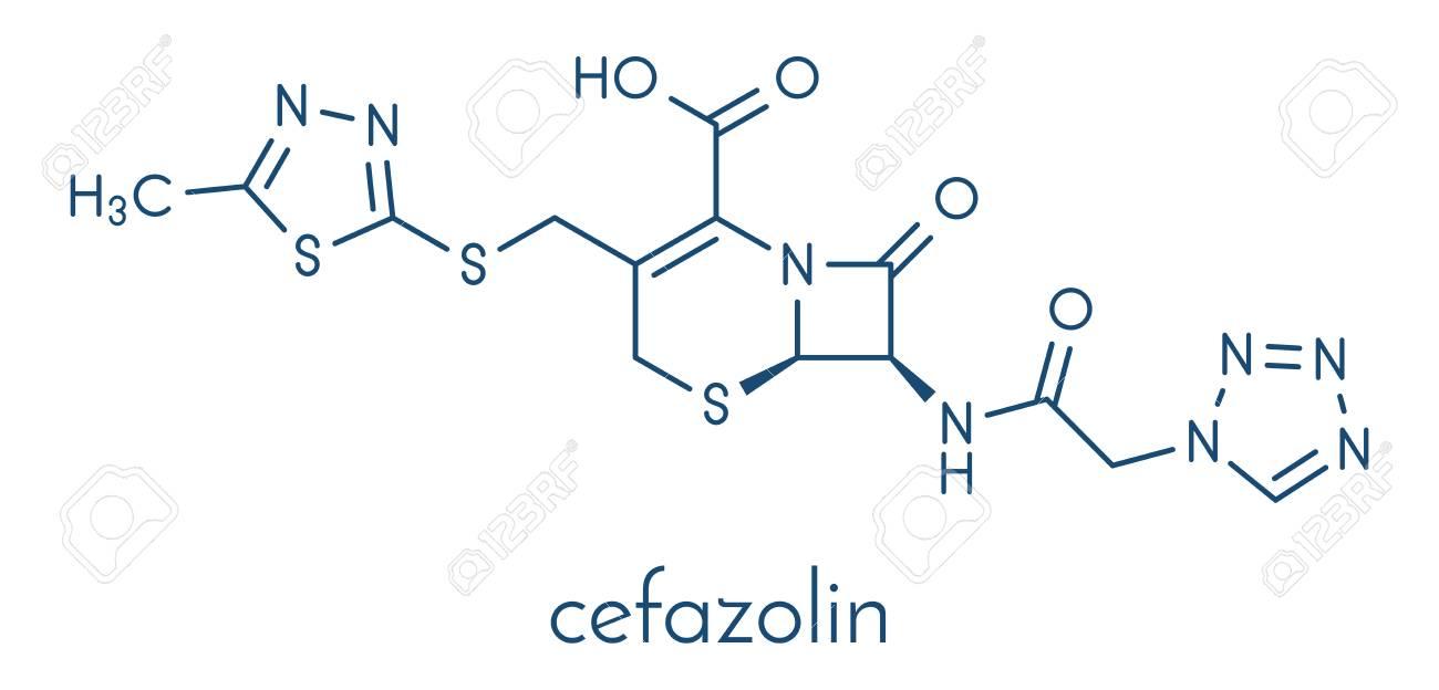 セファゾリン抗生物質薬剤分子 (...