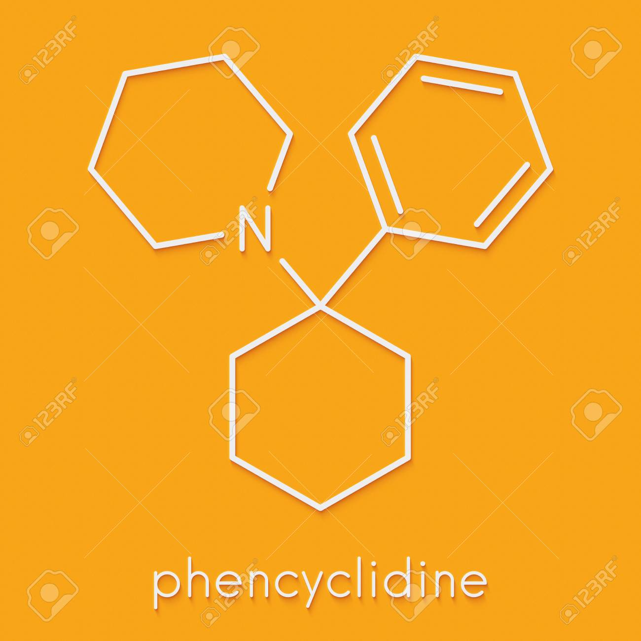 Phencyclidine Pcp Angel Dust Hallucinogenic Drug Molecule