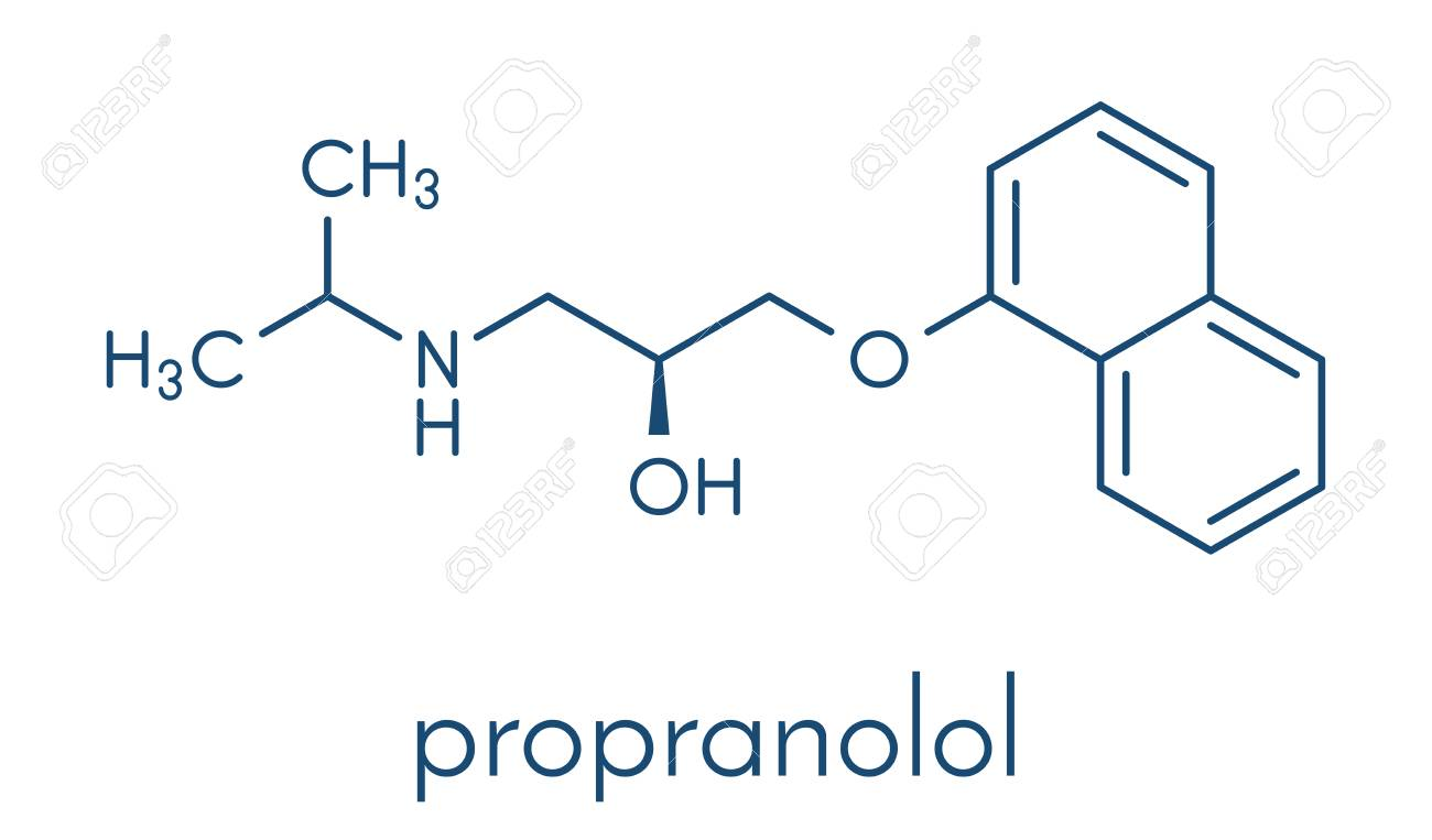 Propranolol High Blood Pressure Drug Molecule Used To Treat