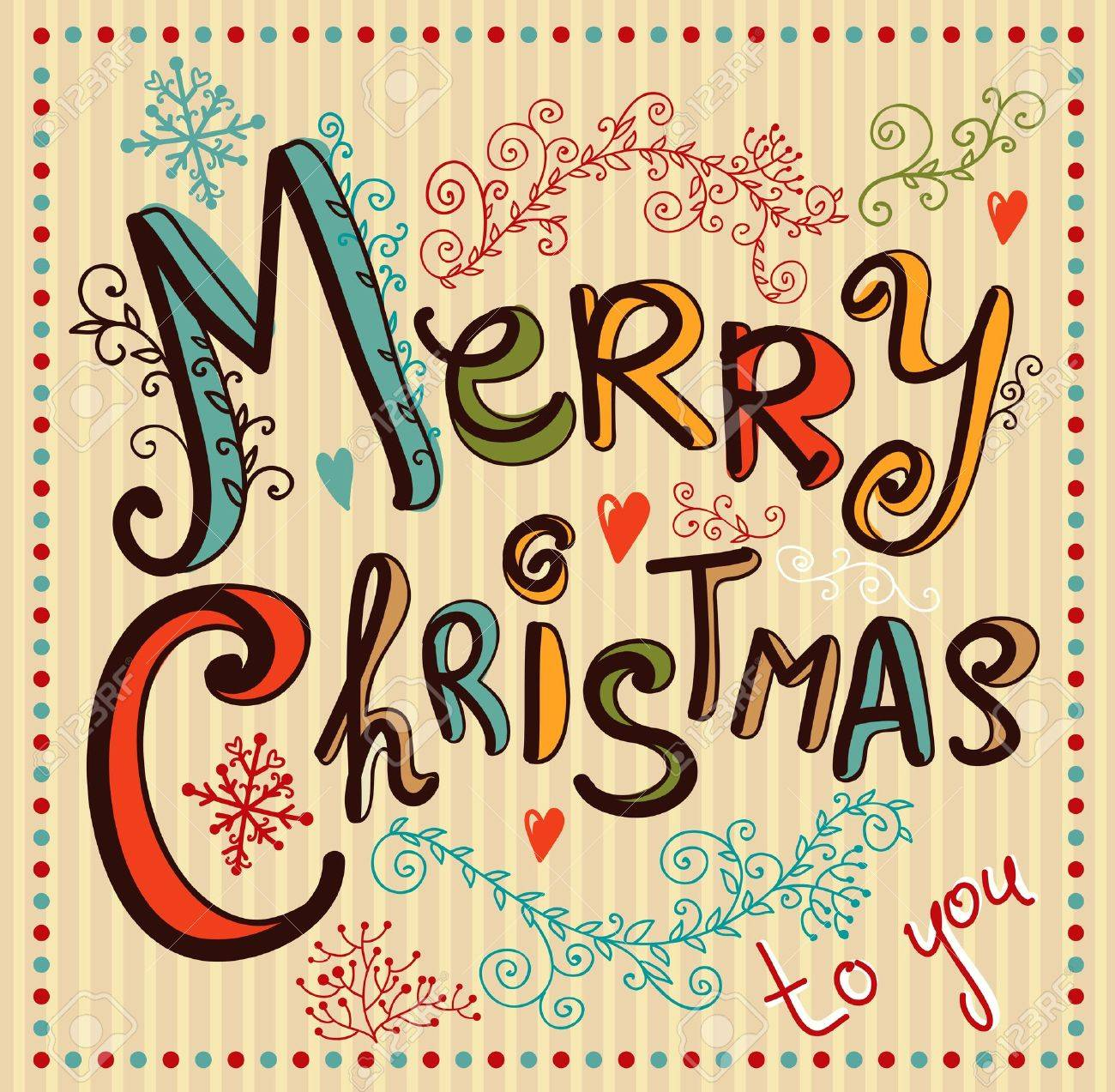 Vintage Christmas card Stock Vector - 15188356