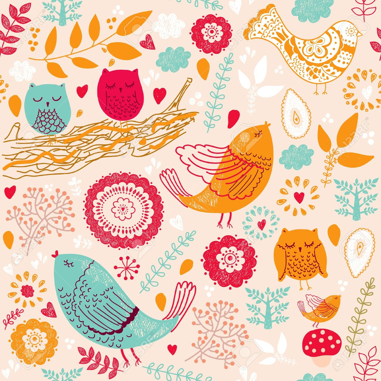 Seamless  floral pattern Stock Vector - 15383329