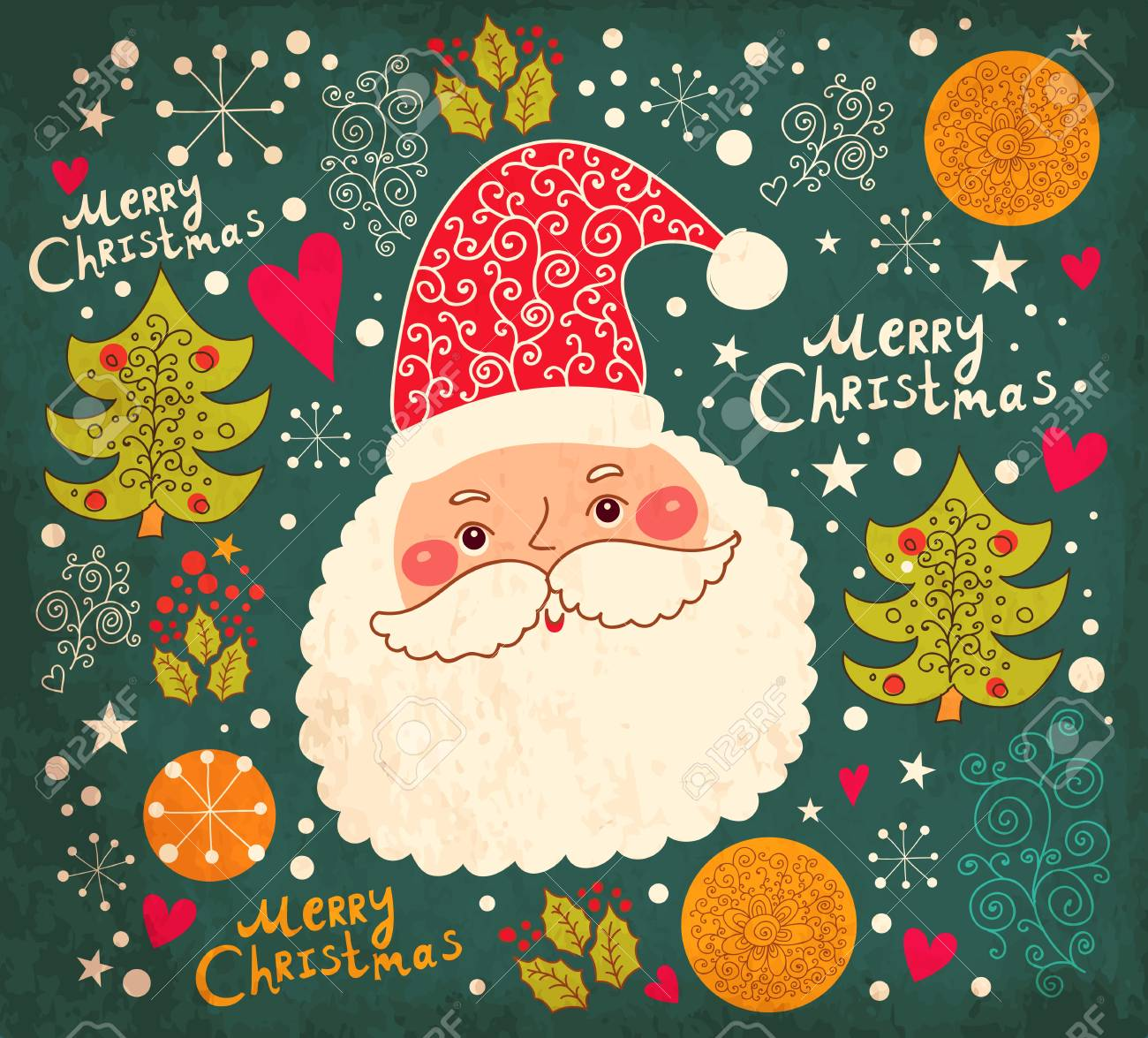 Christmas illustration with funny Santa Claus Stock Vector - 16929866