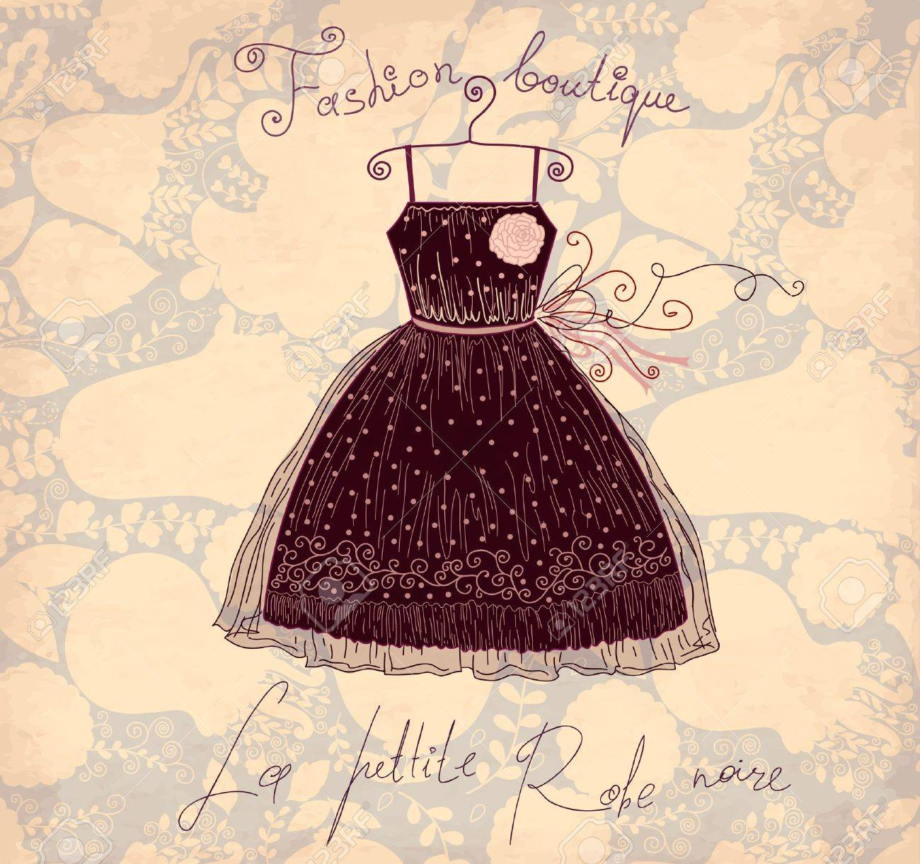 Vector Illustration With Symbols Of French Fashion Royalty Fri