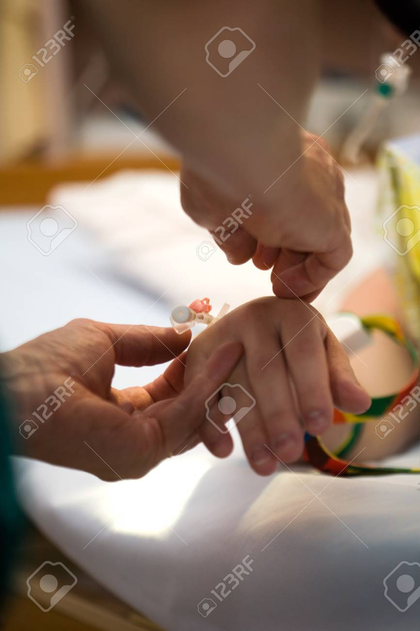 Drip on female patients hand, shallow focus Stock Photo - 7855955