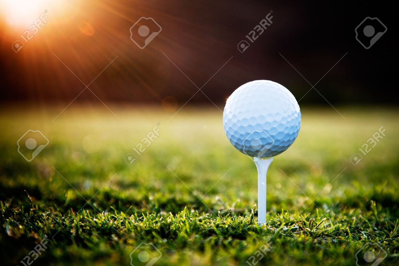 Close Up Of Golf Ball On Tee Stock Photo Picture And Royalty Free Image Image 10668793