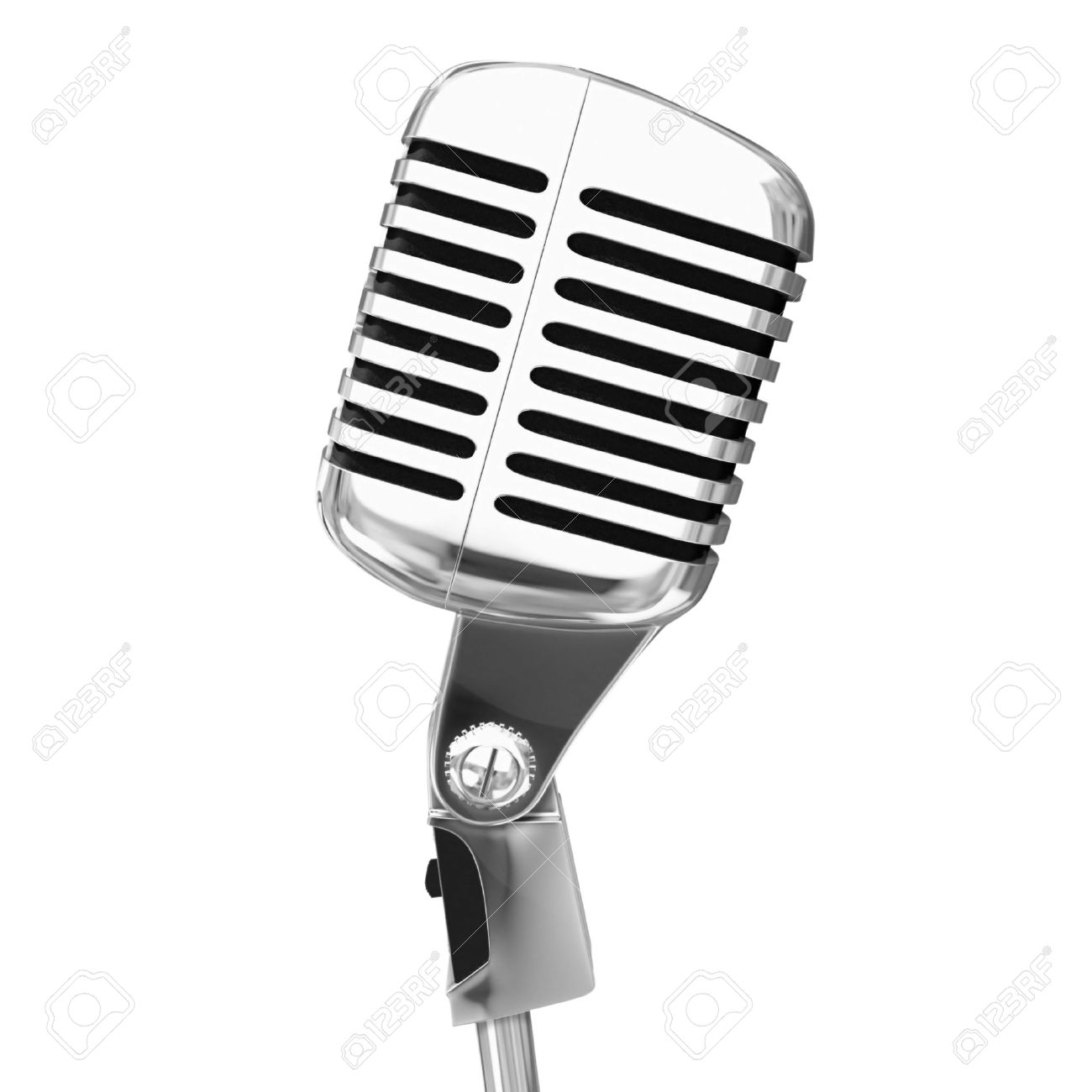 old microphone isolated Stock Photo - 3095024