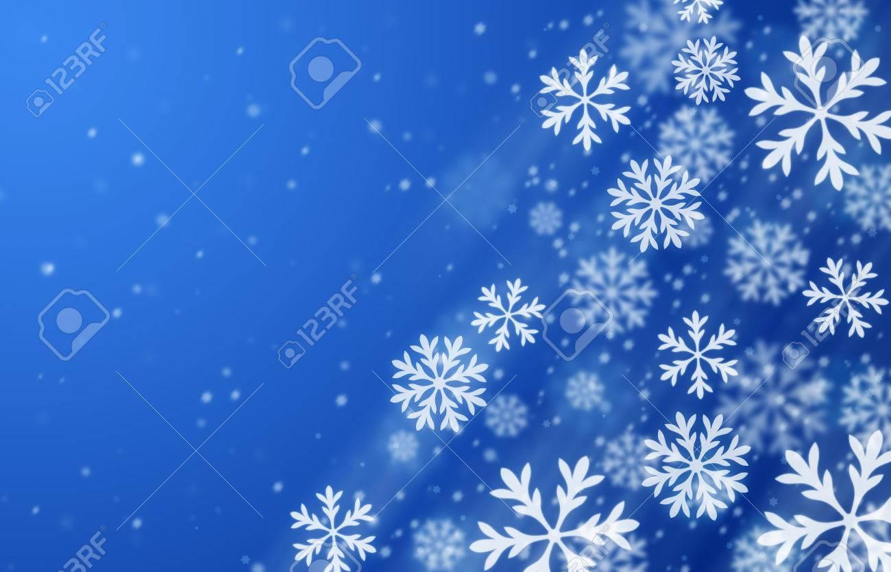 青い雪背景。冬の季節のイラストです。 ロイヤリティーフリーフォト